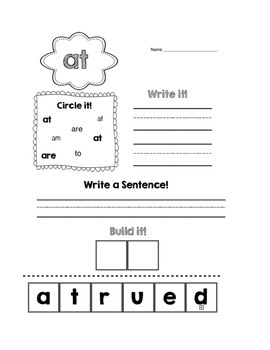 {No Prep} Sight Word Packet (Dolch/High Frequency) 80 PAGES!