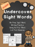 "No Prep Sight Word Practice- ""Undercover Sight Words"" Fry"