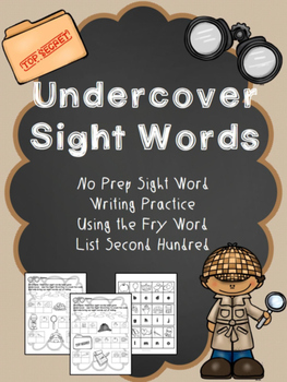 """No Prep Sight Word Practice- """"Undercover Sight Words"""" Fry"""