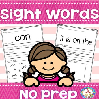 No Prep  Sight Words