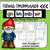 Silent Consonants mb, wr, kn, and gn NO PREP worksheets