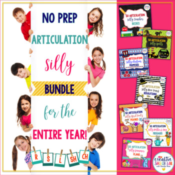 No Prep Silly Articulation BUNDLE for the Entire Year