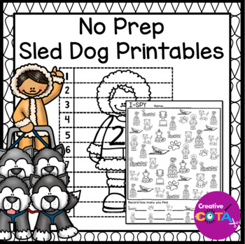 No Prep Sled Dog Printables