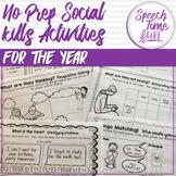 No Prep Social Skills Activities