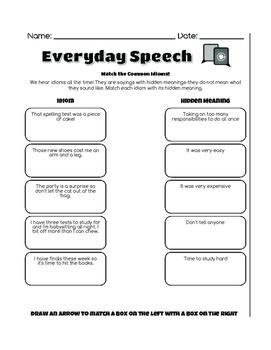 No Prep Social Skills-Idioms and Figurative Language Bundle