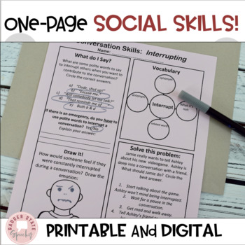 No Prep Social Skills & Emotions Bundle:  Middle High School