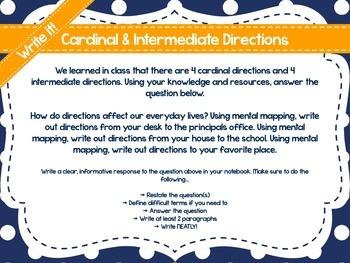 No Prep Social Studies Centers: Cardinal & Intermediate Directions