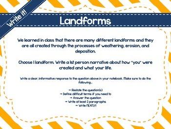 No Prep Social Studies Centers: Landforms