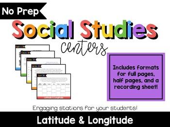 No Prep Social Studies Centers: Latitude and Longitude