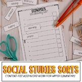 Social Studies Vocabulary Word Work Activities
