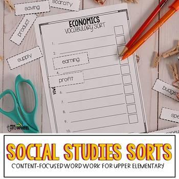Vocabulary Word Work (No Prep Social Studies Vocabulary Practice)