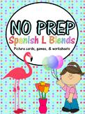 No Prep Spanish L Blend Activity Bundle