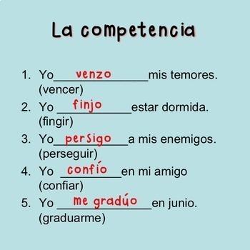 Spanish Present Tense No-Prep Lesson Plans and Curriculum