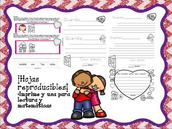 No Prep Spanish Valentine's Day/Reproducibles para el Dia de amor y amistad