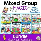 Speech Therapy Activities & Wh Questions No Prep Bundle