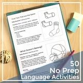 Parent Handouts Preschool Distance Learning   No Prep Spee