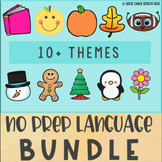 No Prep Speech Therapy Bundle: Preschool, Kindergarten Language