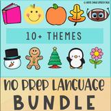 No Prep Speech Therapy Bundle for Preschool, Kindergarten Language