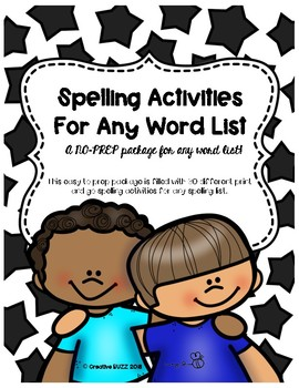 No Prep Spelling Activities!