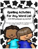 No Prep Spelling Activities!