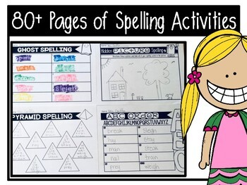 No Prep Spelling Activities for Any Word List