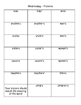 No-Prep Spelling Activity Packet - Plural and Possessive Nouns