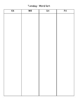 No-Prep Spelling Activity Packet - Silent Letters