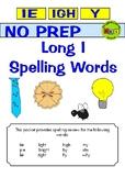 No Prep - Spelling IE - IGH - Y