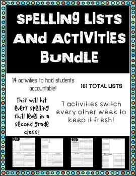 No Prep Spelling Lists and Activities BUNDLE