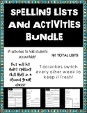 No Prep Spelling Lists and Activities BUNDLE