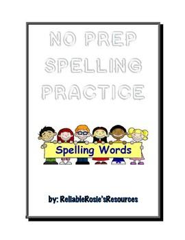 No-Prep Spelling Practice