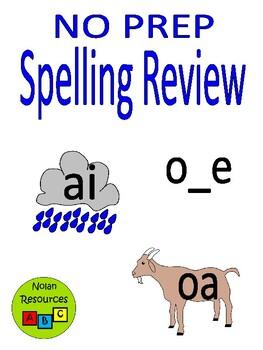 No Prep - Spelling Review