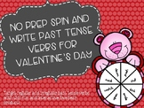 No Prep Spin and Write Past Tense Verbs for Valentine's Day