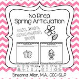No Prep Spring Articulation