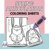 No Prep Spring Articulation Coloring: All Sounds