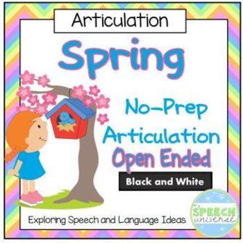 No Prep Spring Articulation Packet: Open Ended