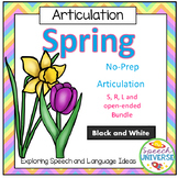 No-Prep Spring Articulation Worksheet Bundle