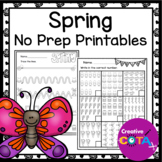 No Prep Spring Differentiated Worksheets and Activities