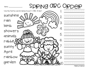 No Prep: Spring / Easter ABC Order