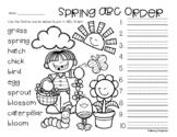No Prep: Spring / Easter ABC Order