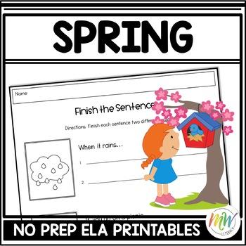 No Prep Spring Literacy Activity Packet