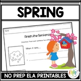 No Prep Spring Activities