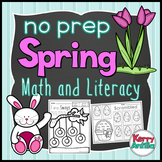 No Prep Spring Math and Literacy Kindergarten Pack