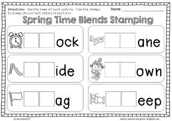No Prep Spring Math and Literacy Printables