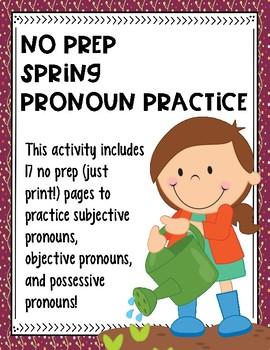 No Prep Spring Pronoun Practice