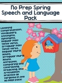 No Prep Spring Speech and Language Pack