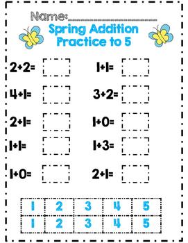 *No Prep* Spring Time in Kindergarten Math & ELA Packet