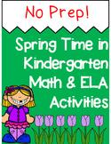 *No Prep* Spring Time in Kindergarten Math & ELA Packet - Distance Learning