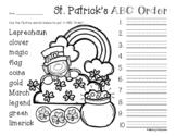 No Prep: St. Patrick's Day ABC Order