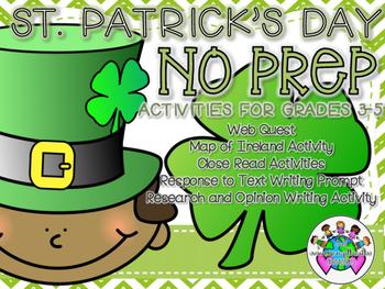 No Prep St. Patrick's Day Activities